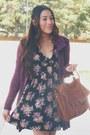 Tawny-shoedazzle-boots-black-floral-forever-21-dress-tawny-chicnova-bag
