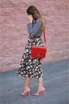 black floral Daintyjewells dress - bubble gum pink Shoedazzle heels