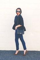 black Sheinside blouse - dark brown leopard print asos pumps