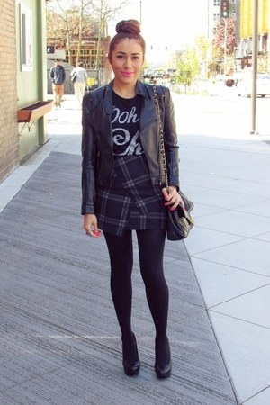 black romwe jacket - black romwe t-shirt