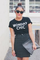 black studded chicnova bag - black Lulus top - bubble gum Shoedazzle pumps