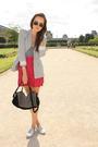 Pink-h-m-skirt