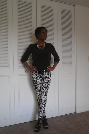 banana republic blazer - H&M pants - BCBG sandals - The Limited necklace