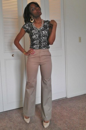 Charlotte Russe shirt - H&M pants - elle heels - Casio Illuminator watch