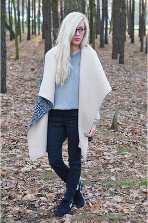 coat cape - sweater
