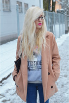 sweater sweatshirt - coat - jeans