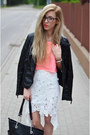 Jacket-lace-high-low-skirt
