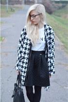 coat coat - boots - skirt - top