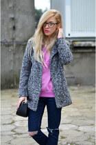 coat - sweatshirt - watch