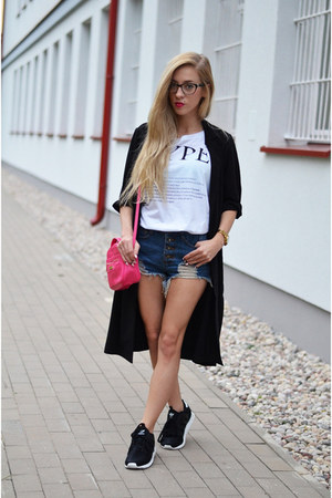 coat - shorts - sneakers