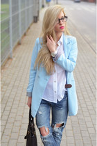 blazer - jeans