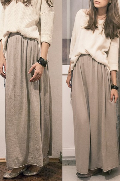 Maxi skirt jersey knit diy – Modern trending things photo blog