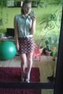 Random-brand-shirt-new-yorker-skirt-h-m-heels