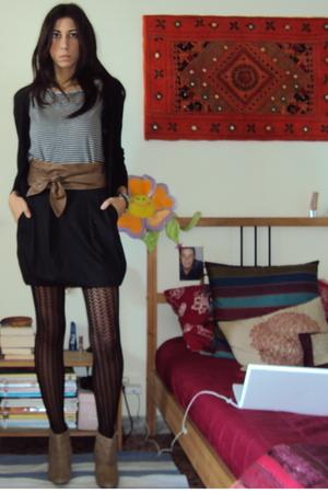 Oviesse sweater - Zara t-shirt - no brand belt - united colors of benetton skirt