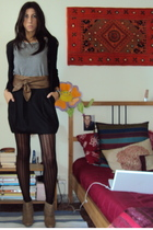 Oviesse sweater - Zara t-shirt - no brand belt - united colors of benetton skirt