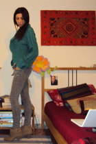 sweater - Zara jeans - intimissimi top - Massimo Dutti belt - Zara shoes