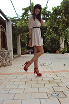 white heart print Dahlia dress - red Kurt Keiger heels