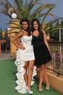 Black-bershka-dress-white-eli-laslean-design-dress