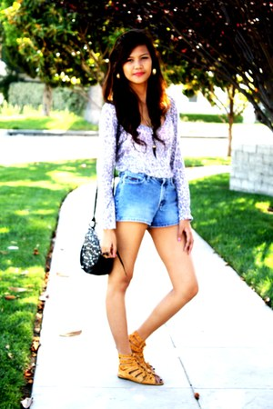 The Ramp sandals - LEI shorts - Forever 21 top