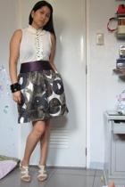 Mango blouse - Mango bracelet - Mango skirt