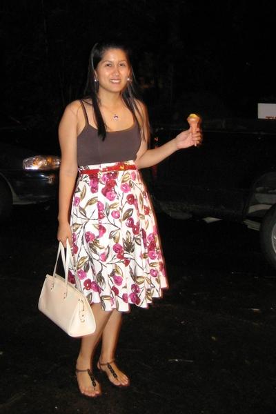 Mango blouse - Mango skirt - Old Navy shoes - Epi Madeleine Louis Vuitton purse