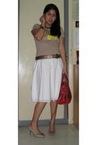 Generic shirt - Guess dress - balenciga purse - H&M bracelet - Zara shoes