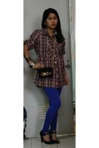posh blouse - H&M bracelet - Chanel bracelet - vintage Ferragamo purse - Nine We