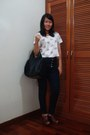 Navy-highwaisted-jeans-black-bag-brown-clogs-white-cropped-topshop-top-g