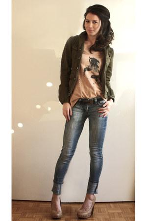 Aldo shoes - Levis jacket - H&M t-shirt