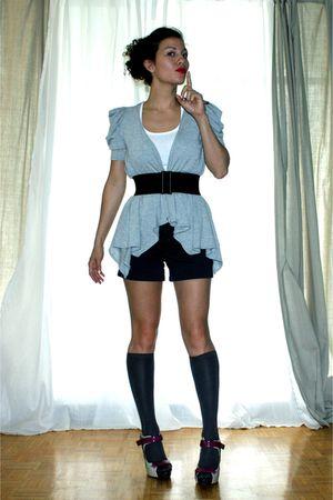 f21 top - Stitches cardigan - hm socks - f21 shorts - American Apparel belt - Al