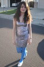 Forever21-dress-sparkly-toms-shoes-mossimo-tights-feather-earrings