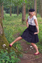 black Het Amerikaans Stockhuis hat - red ecco shoes - black Vero Moda skirt