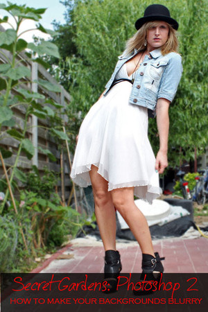 black Tesenderloo shoes - white warehouse dress - black Ebay hat