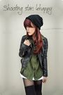 Black-green-shirt-black-jacket-black