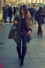 Black-zara-coat-black-giorgia-jones-shirt-navy-jeans-diesel-pants