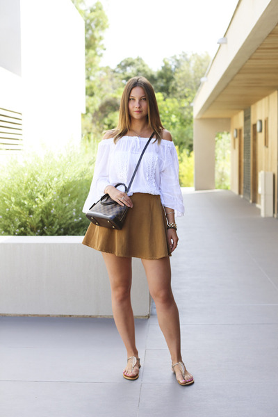 full American Apparel skirt - alma damier Louis Vuitton bag