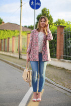 bubble gum Maje jacket - blue Zara jeans - neutral Givenchy bag