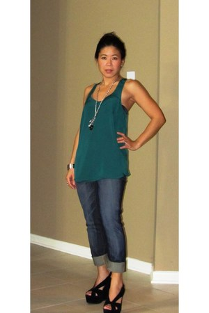 mariel Jeffrey Campbell shoes - 7 for all mankind jeans - Mossimo top