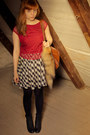 New-look-blouse-lasocki-boots-h-m-bag-h-m-skirt-gift-accessories