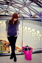 black Start shoes - black Mohito jeans - hot pink Wanted bag