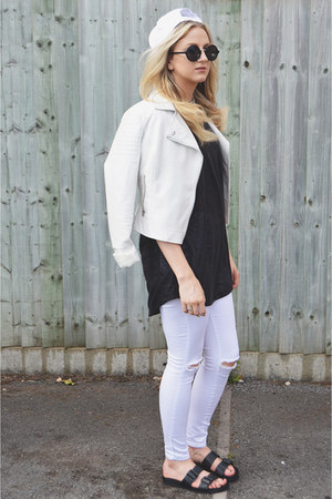 white pu Primark jacket