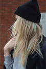 Black-the-ragged-priest-hat-black-primark-jacket-heather-gray-h-m-sweater