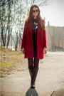 Black-pull-bear-boots-ruby-red-zara-coat-black-stradivarius-bag