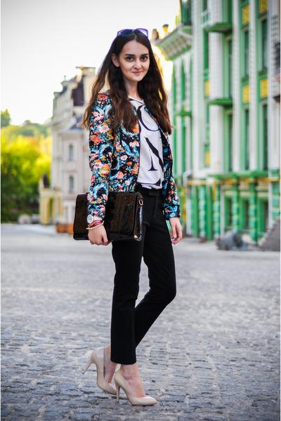 pull&bear jacket - KAMENSKAKONONOVA bag - H&M sunglasses - Gap pants
