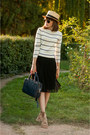Mustard-boater-handmade-hat-white-stripes-sheinside-sweater