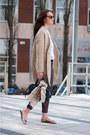 Gold-metallic-stradivarius-shoes-eggshell-oversized-sheinside-coat
