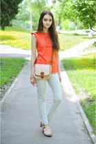 Promod bag - Zara jeans - Aldo sandals - Zara t-shirt