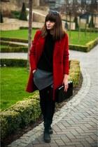 red Zara coat - black poustovit for braska boots
