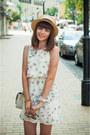 White-sheinside-dress-silver-h-m-bag-heather-gray-parfois-sunglasses