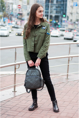 army green army green zaful jacket - crimson chelsea pull&bear boots